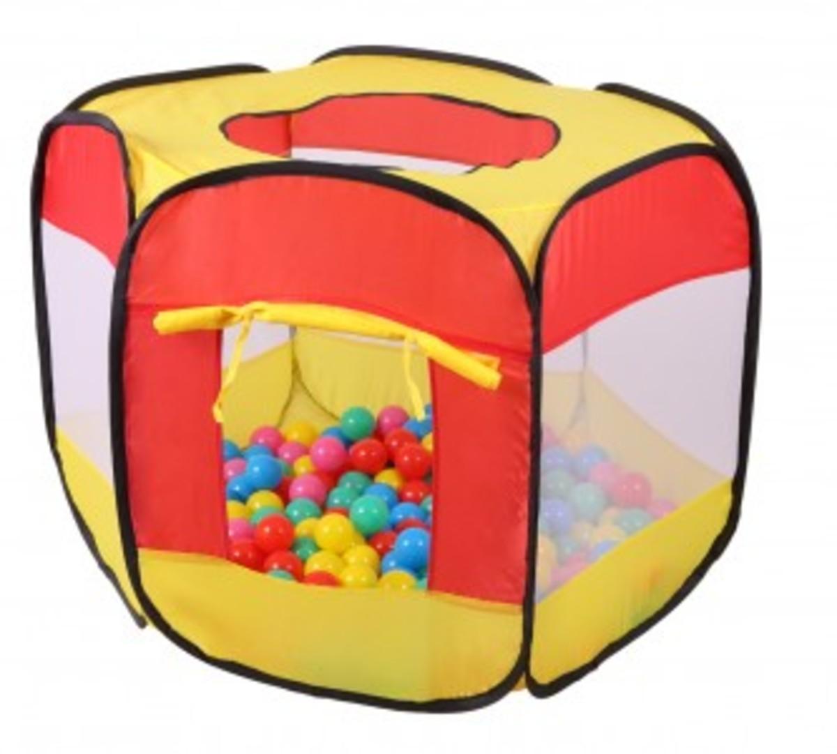 Dětský stan - suchý bazén s kuličkama