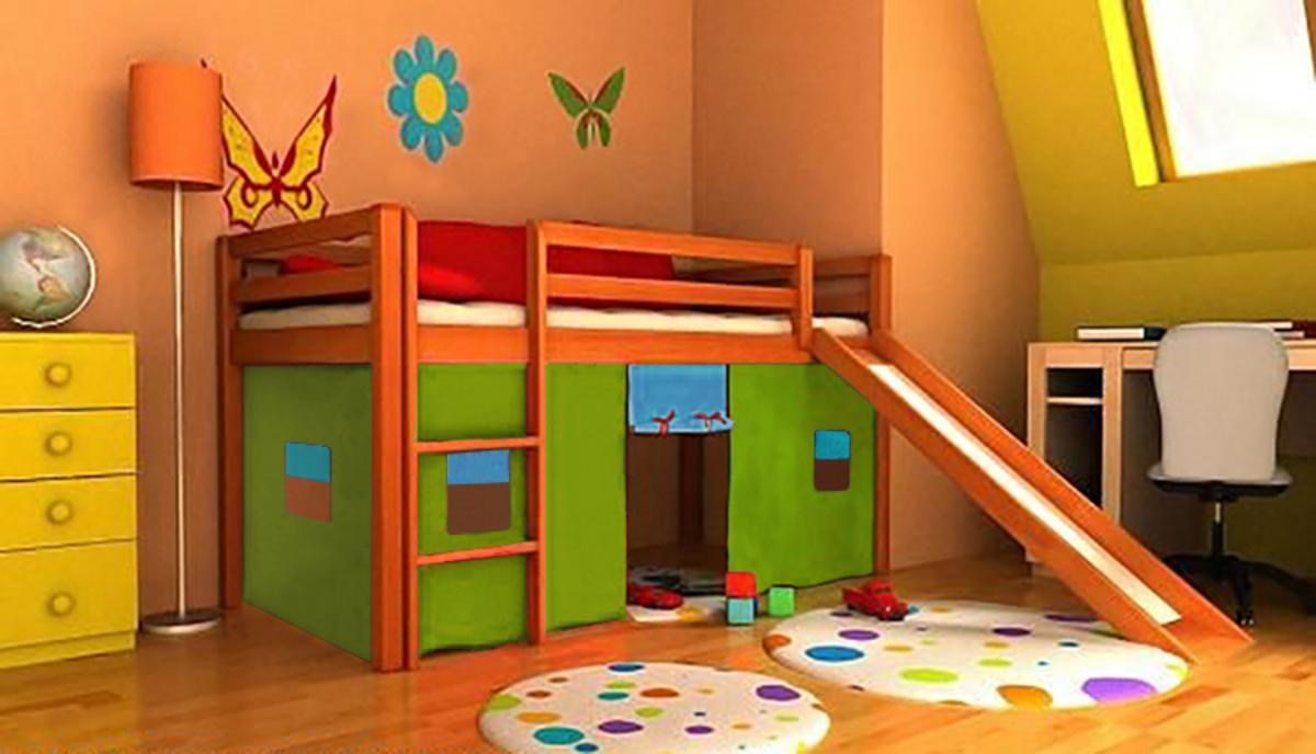Dětská vyvýšená postel Ourbaby Modo 180x80 cm olše
