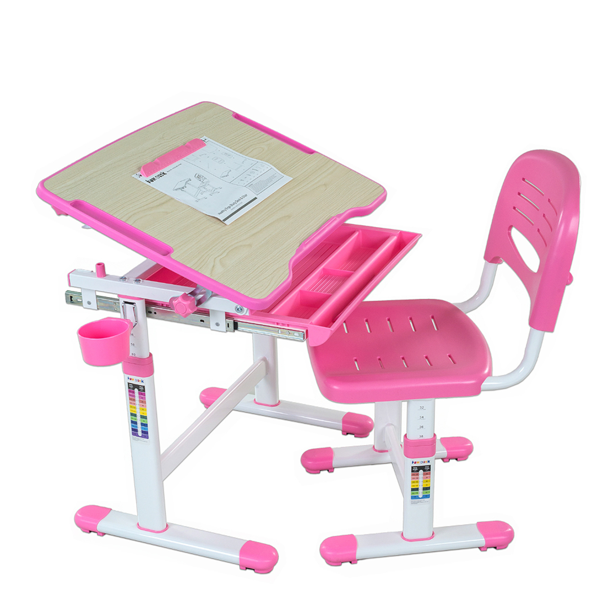 Dětský psací stůl + židle Bambino - různé barvy modrá