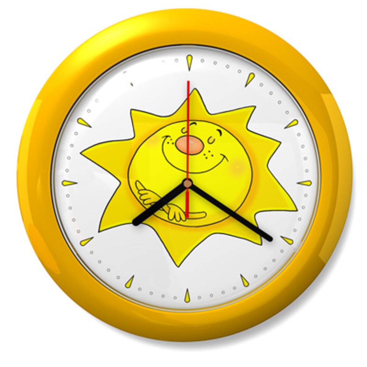 BAZAR Dětské hodiny č. 09 Sluníčko
