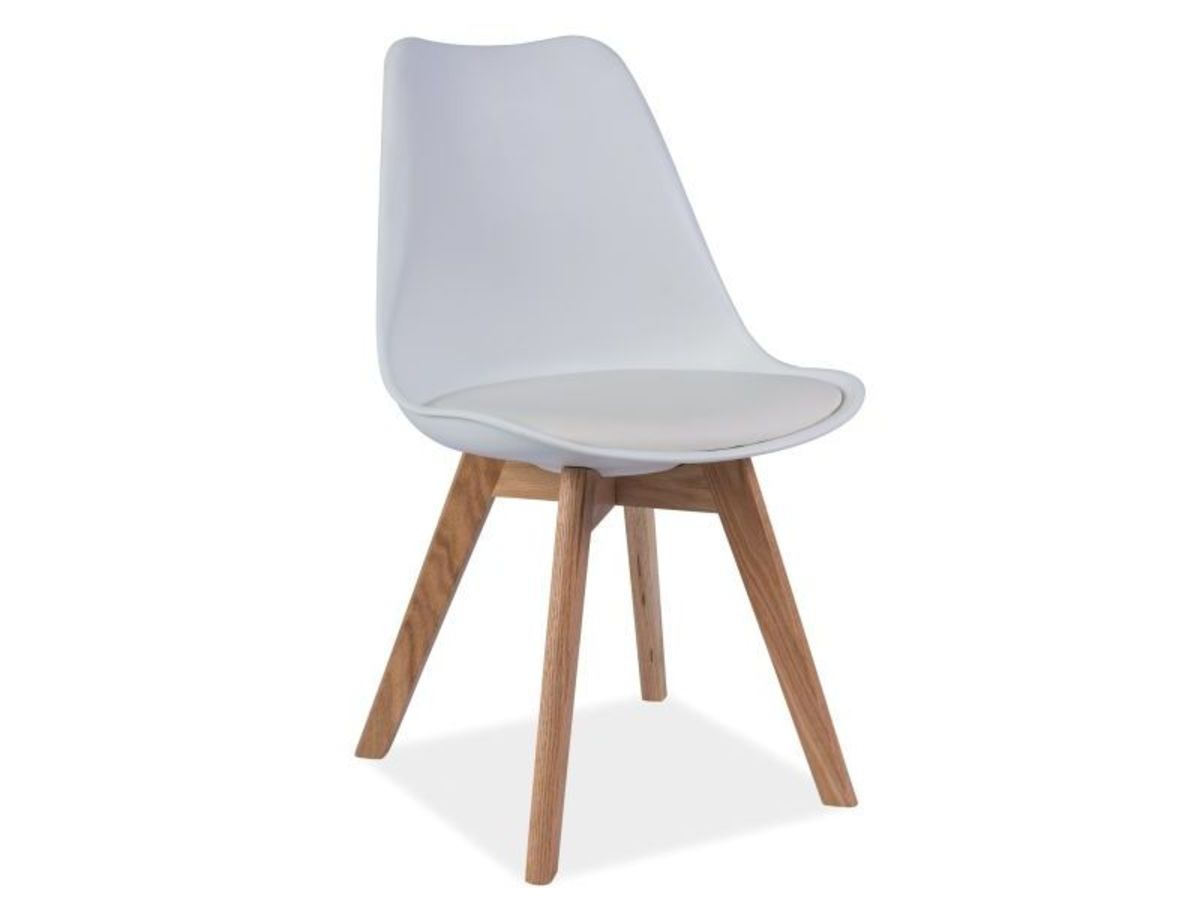 Jídelní židle Kris dub/bílá