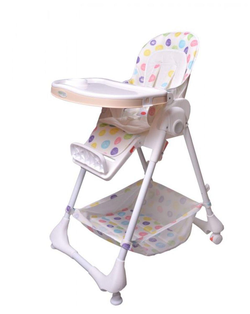 Dětská jídelní židlička/lehátko Puntíky