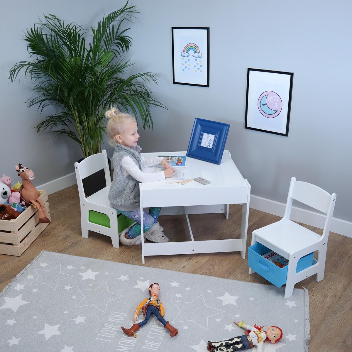 Ourbaby dětský stůl se židlemi 23670