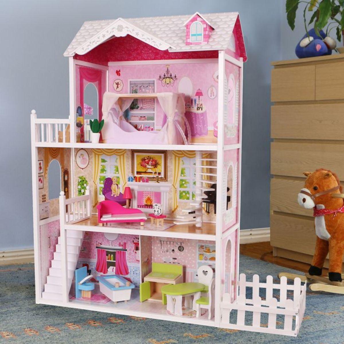Dřevěný domeček pro panenky California