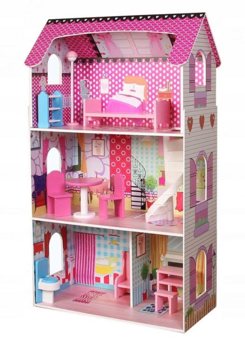 Dřevěný domeček pro panenky Růžová vila