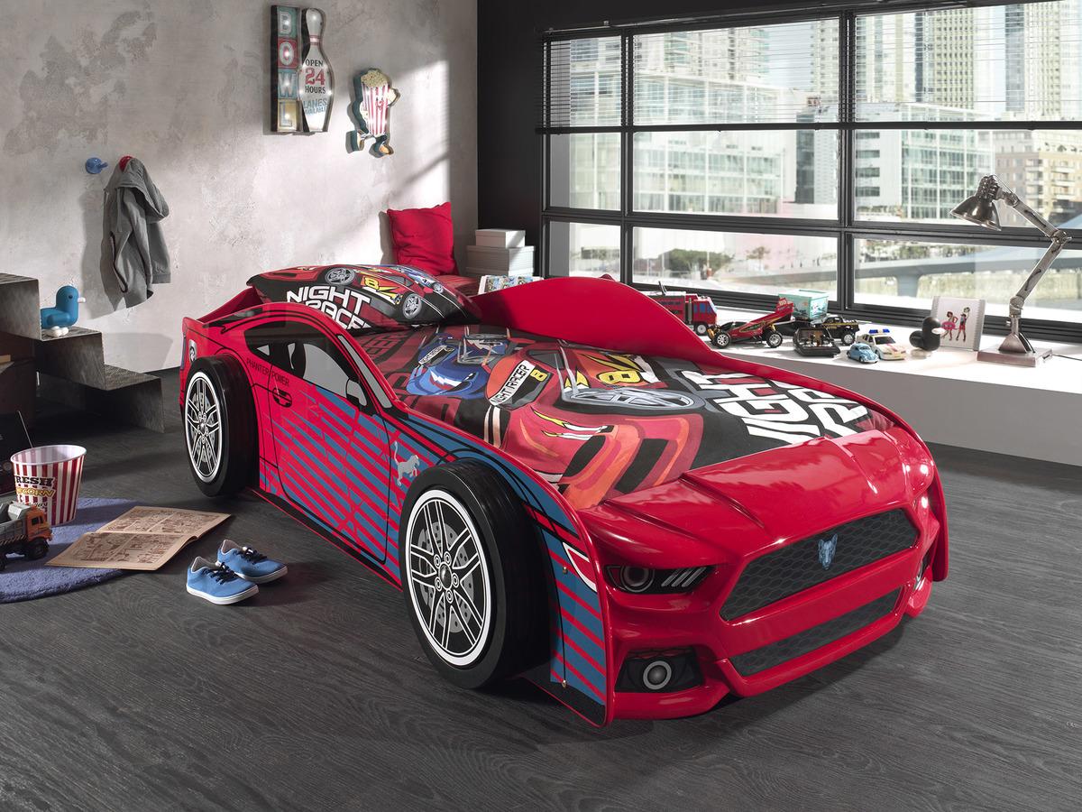 Dětská postel VIPACK FURNITURE Car Panther 200x90 cm červená