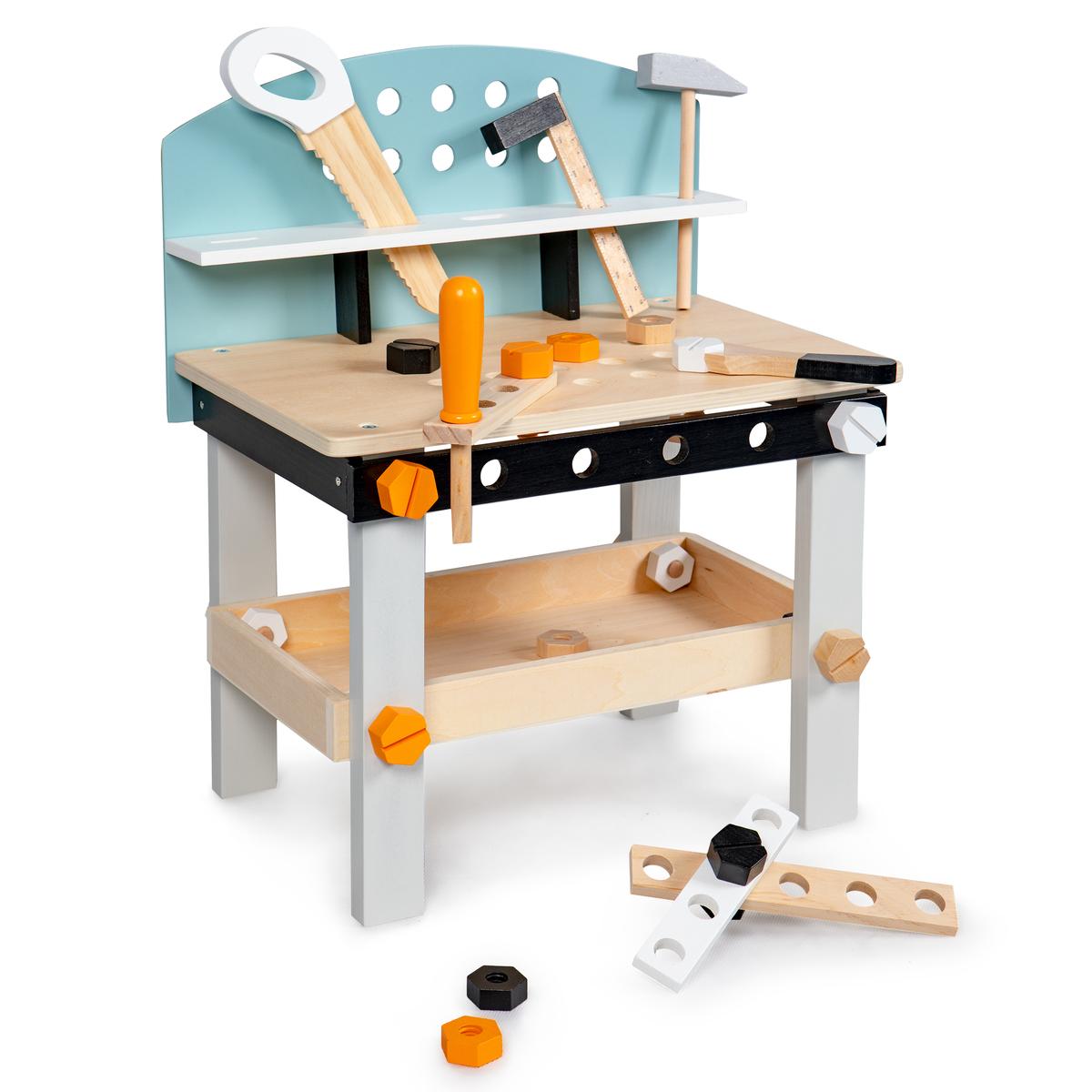 Dětský dřevěný pracovní ponk