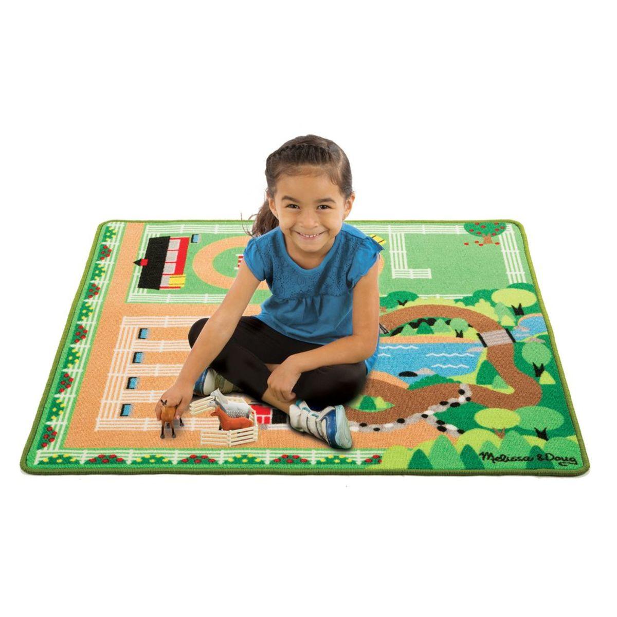 Dětská hrací podložka Koňská farma horse farm playmat