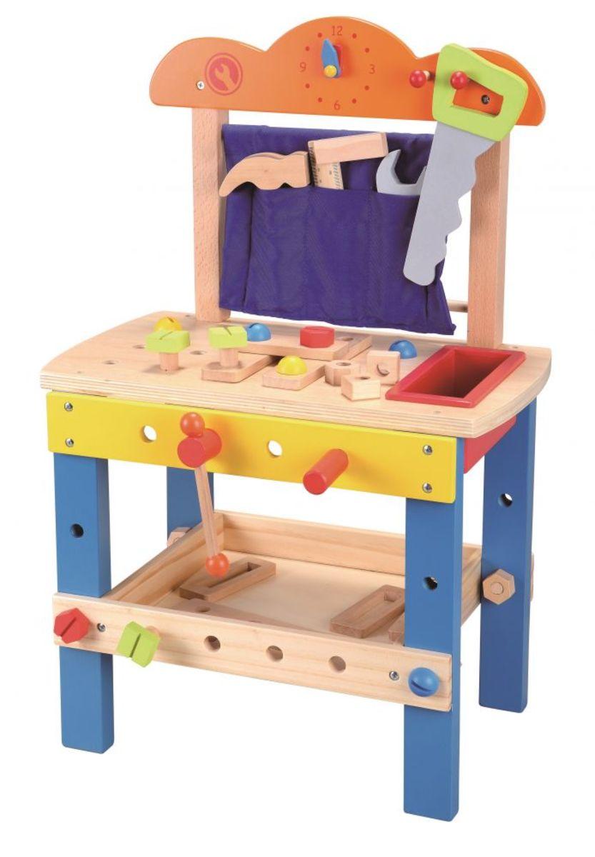 Dřevěná dílna se spoustou nářadí workbench toy