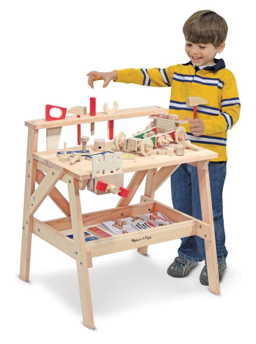 Dřevěná dílna pro kutily a stavebnice 2v1 Wooden toy workshop