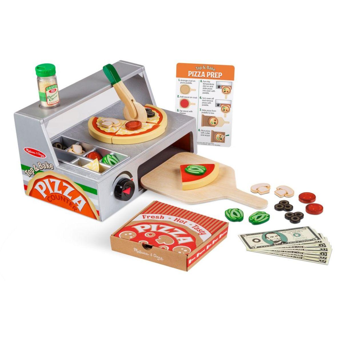 Dřevěná pizzerie Melissa & Doug Wooden pizza set