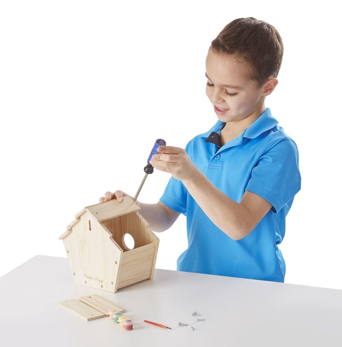 Kreativní sada - dřevěná ptačí budka Build-your-own birdhouse