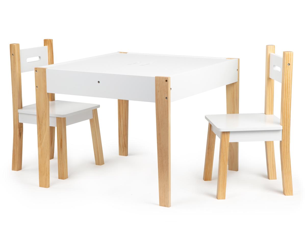 EcoToys dětský stůl se židlemi Table White 32472