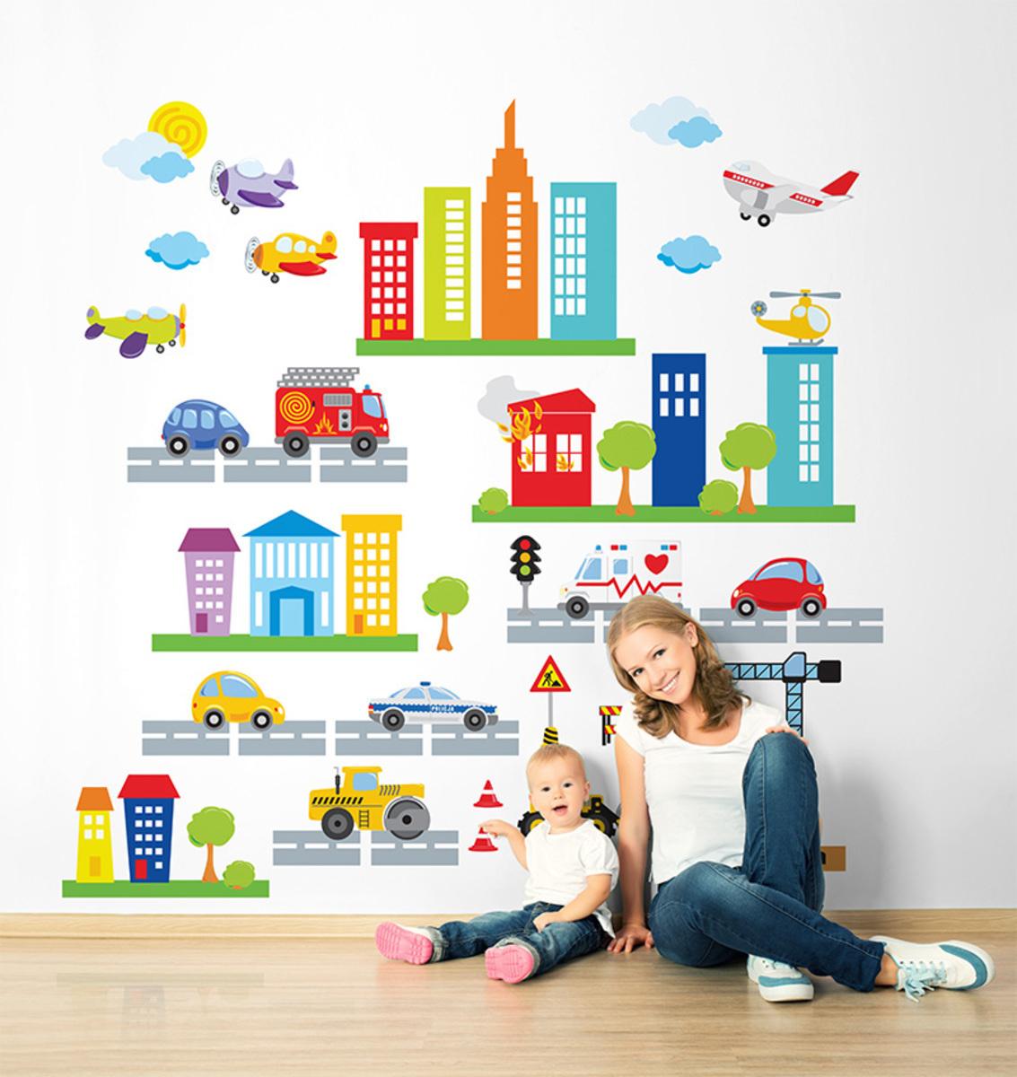 Samolepky na zeď MĚSTO 1 m²