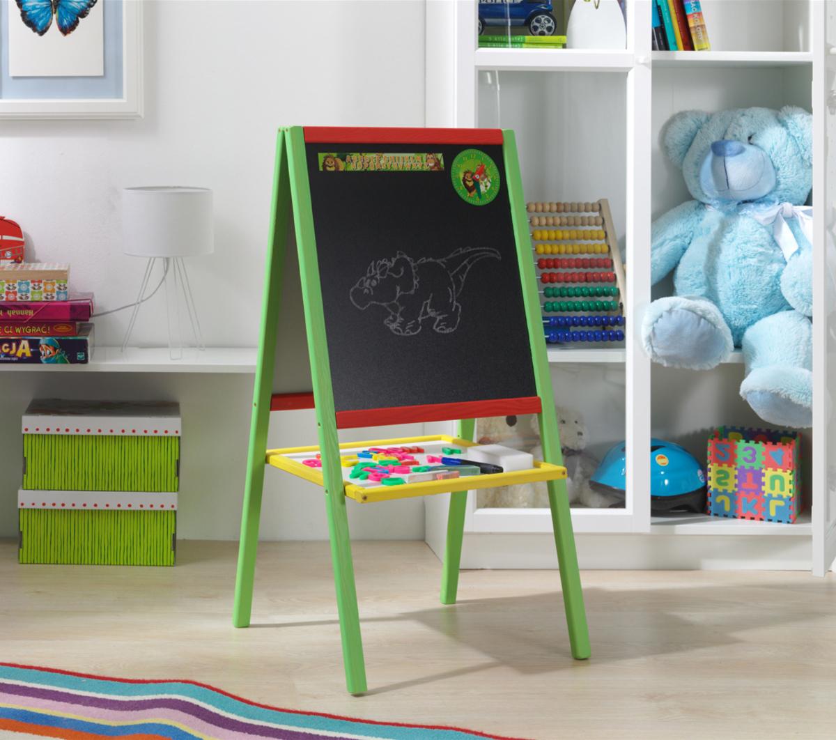 Dřevěná dětská magnetická tabule MMCB01