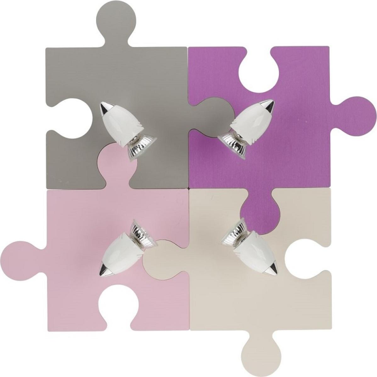 Dětské bodové svítidlo Puzzle fialová