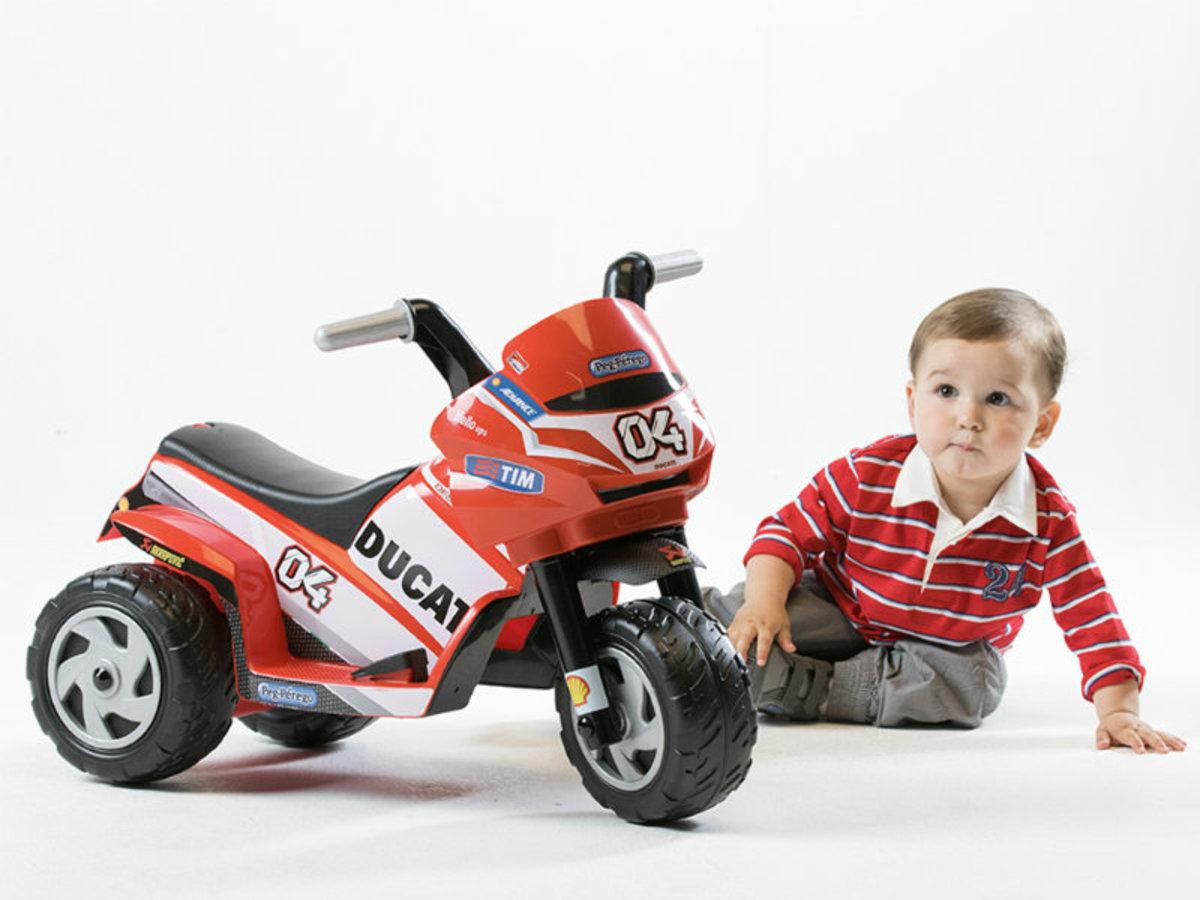 Dětské elektrické vozítko Peg Perégo - Mini Ducati IGMD0005 - červená