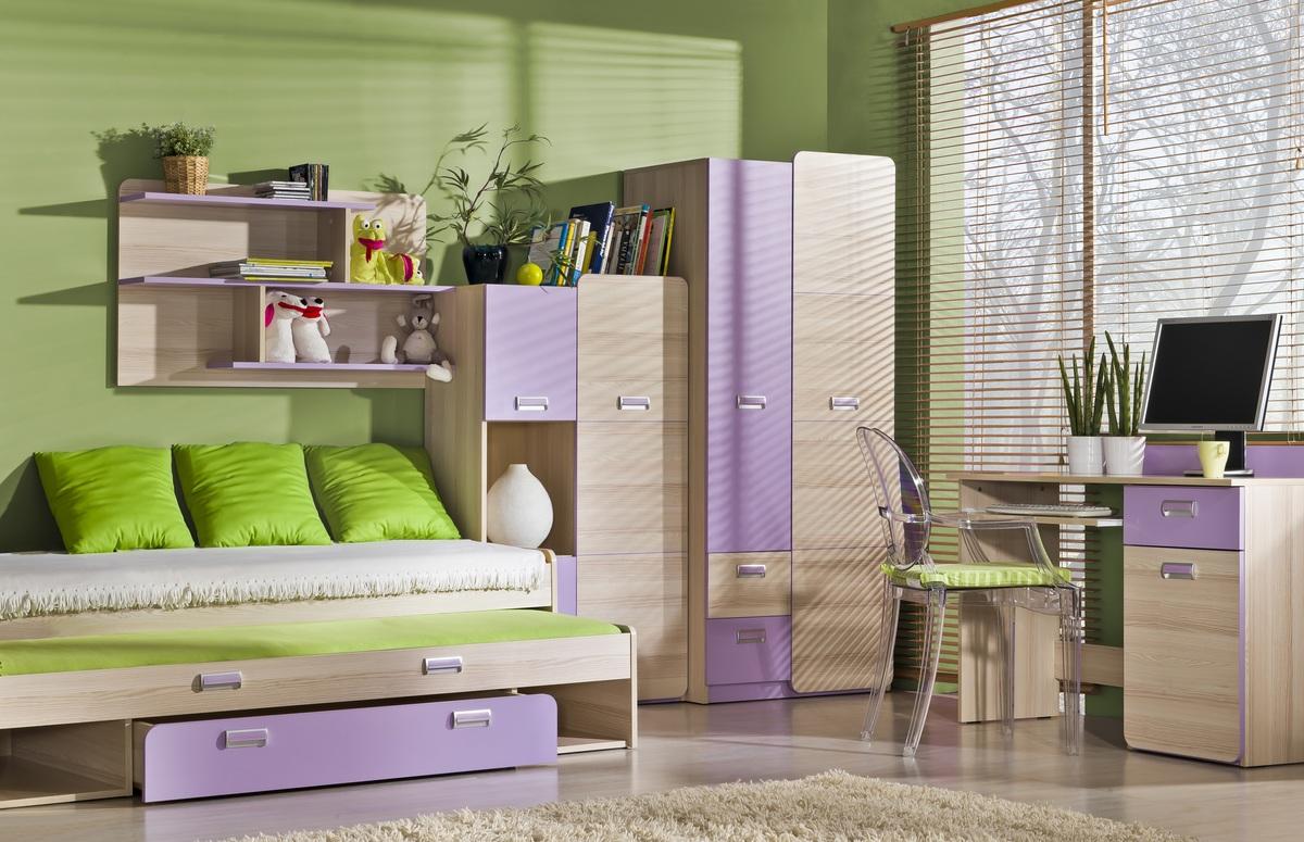 Dětský pokoj Lori 4 postel s přistýlkou L16