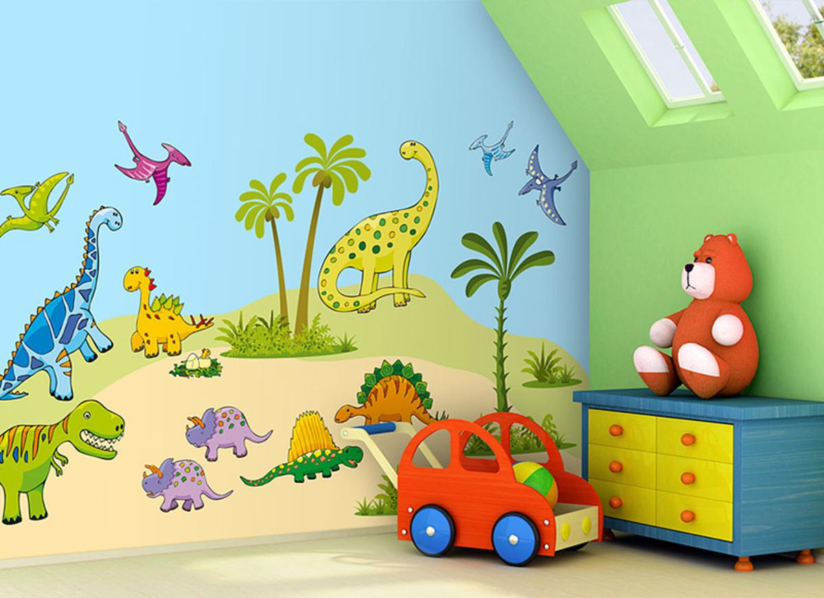 Samolepka na zeď Mint Kitten Dinosaurs 605-0, 2,4 m²