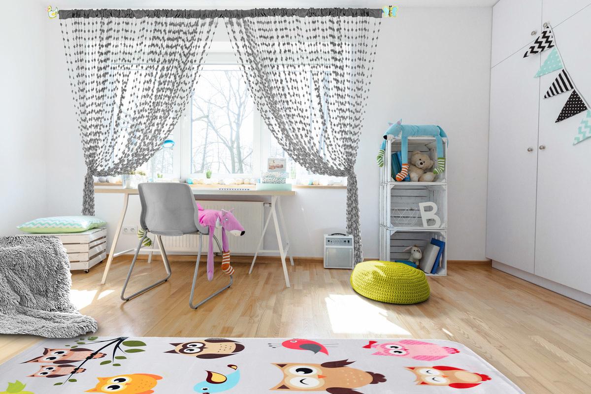 Dětská záclona Baby Ball grey 250x160 cm