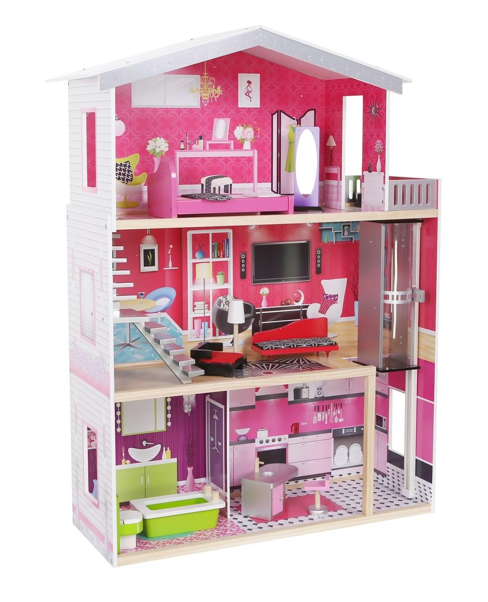 Dřevěný domeček pro panenky Malibu