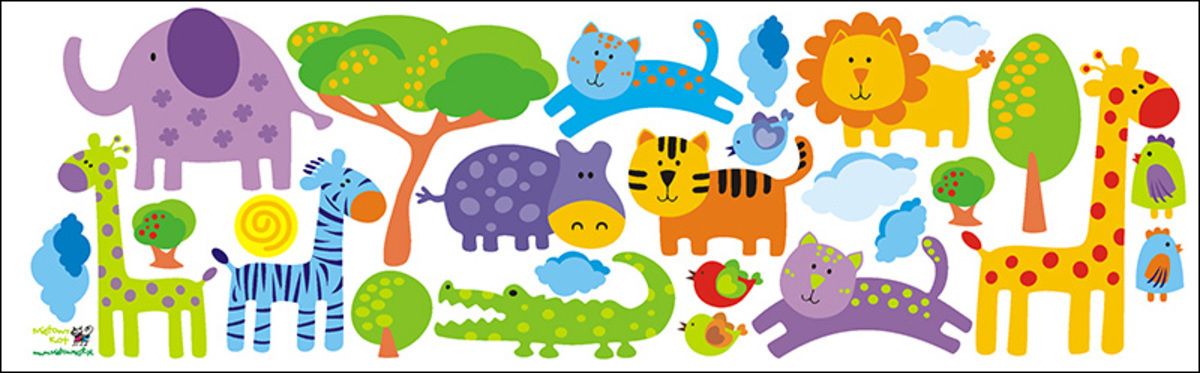 Samolepka na zeď Mint Kitten Safari 722-0, 0.5 m²