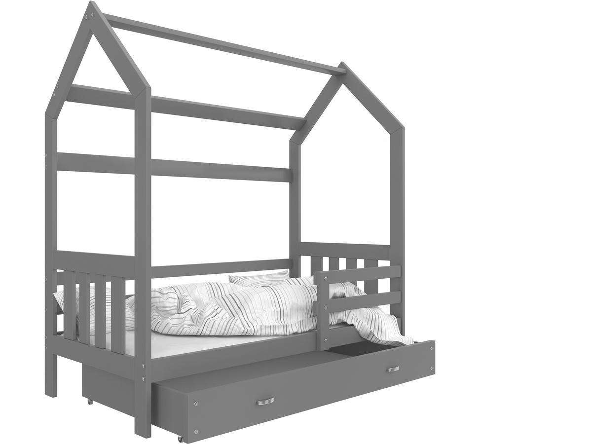 Dětská postel Ourbaby Filip 190x80 cm šedá