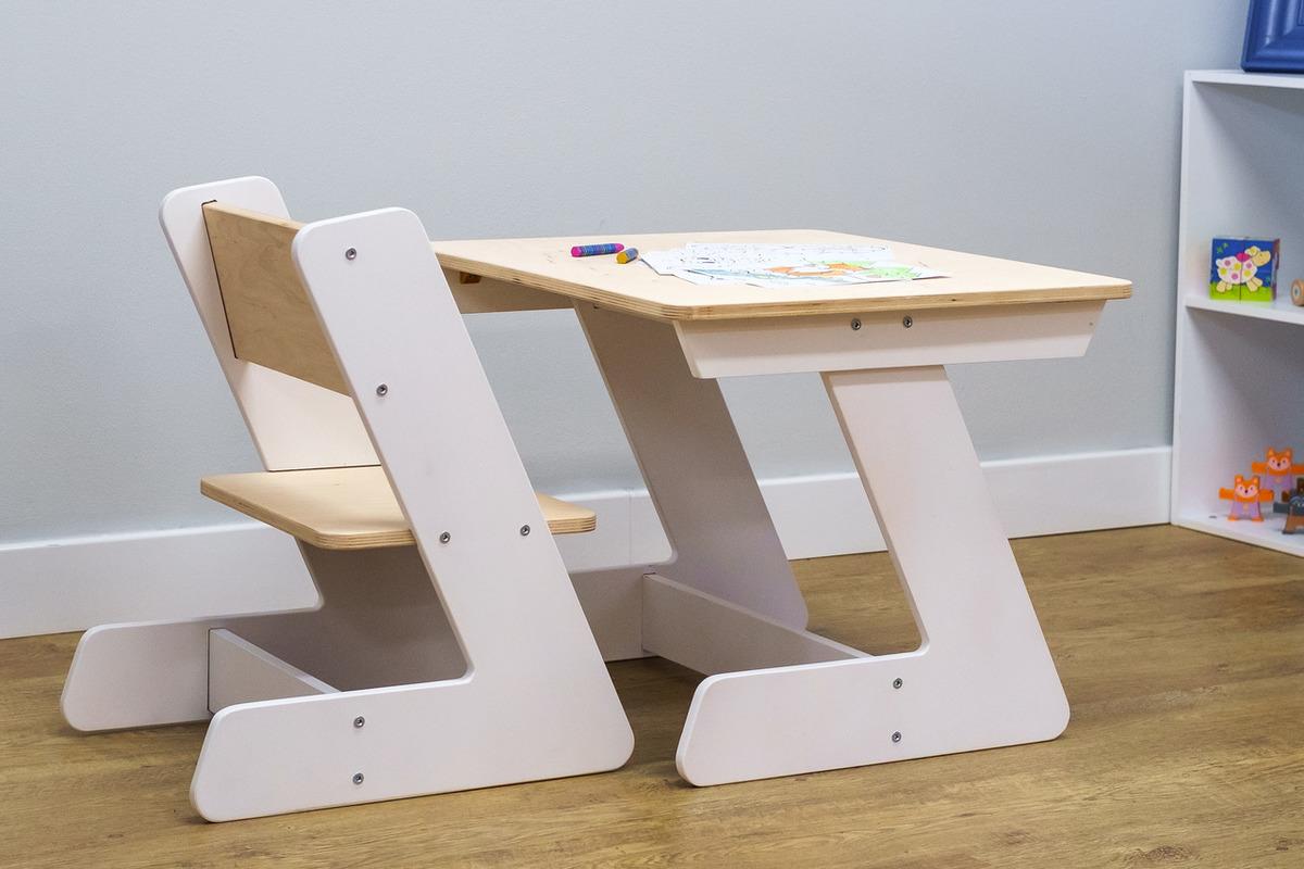 Ourbaby dětský stůl se židlemi Table Zet white 32422