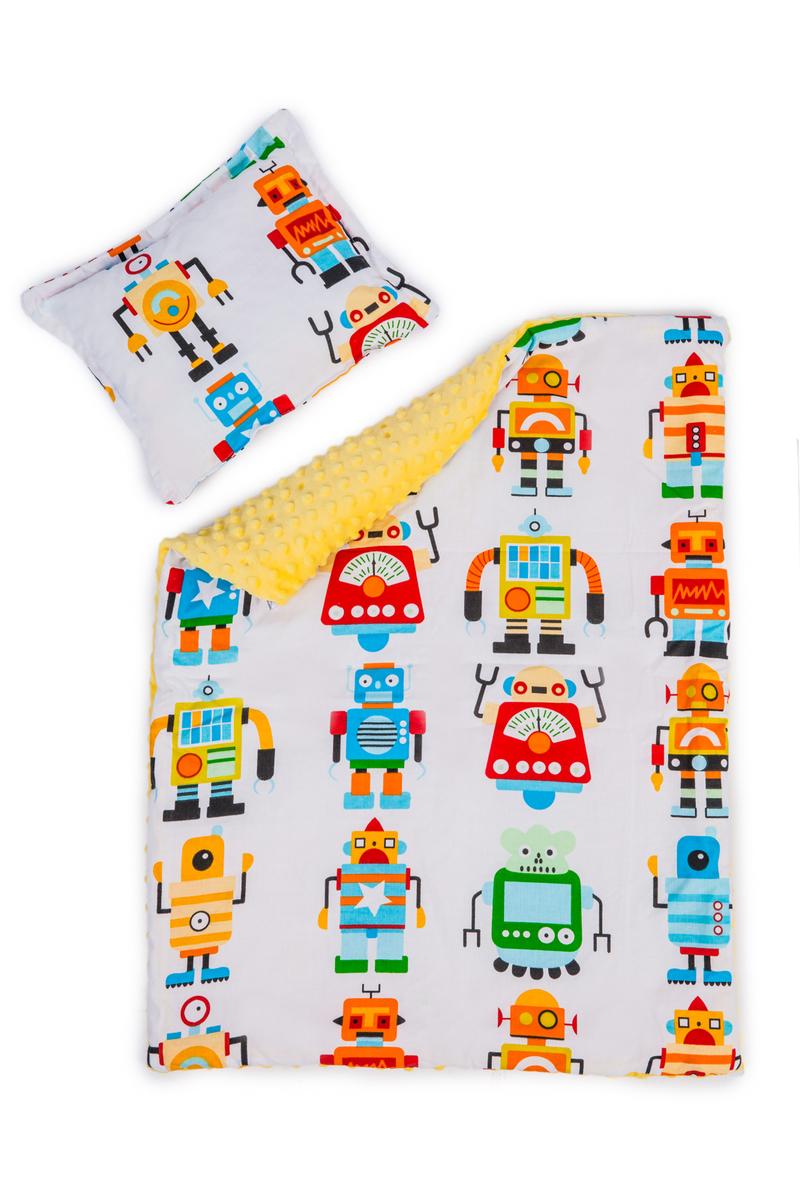 Dětská deka a polštář L Roboti