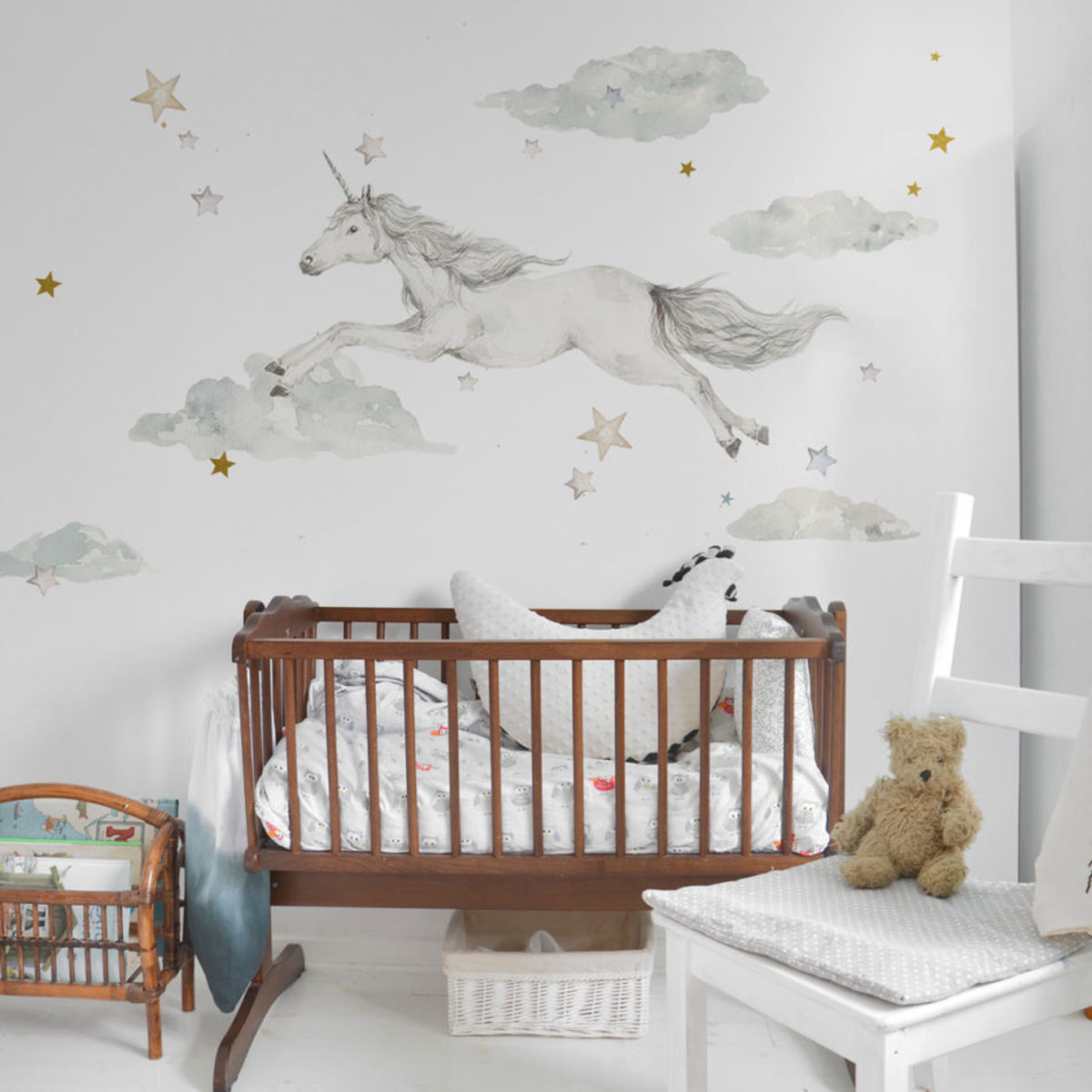 Samolepka na zeď Dekornik Unicorn in the Sky 30035-0, 0.5 m²