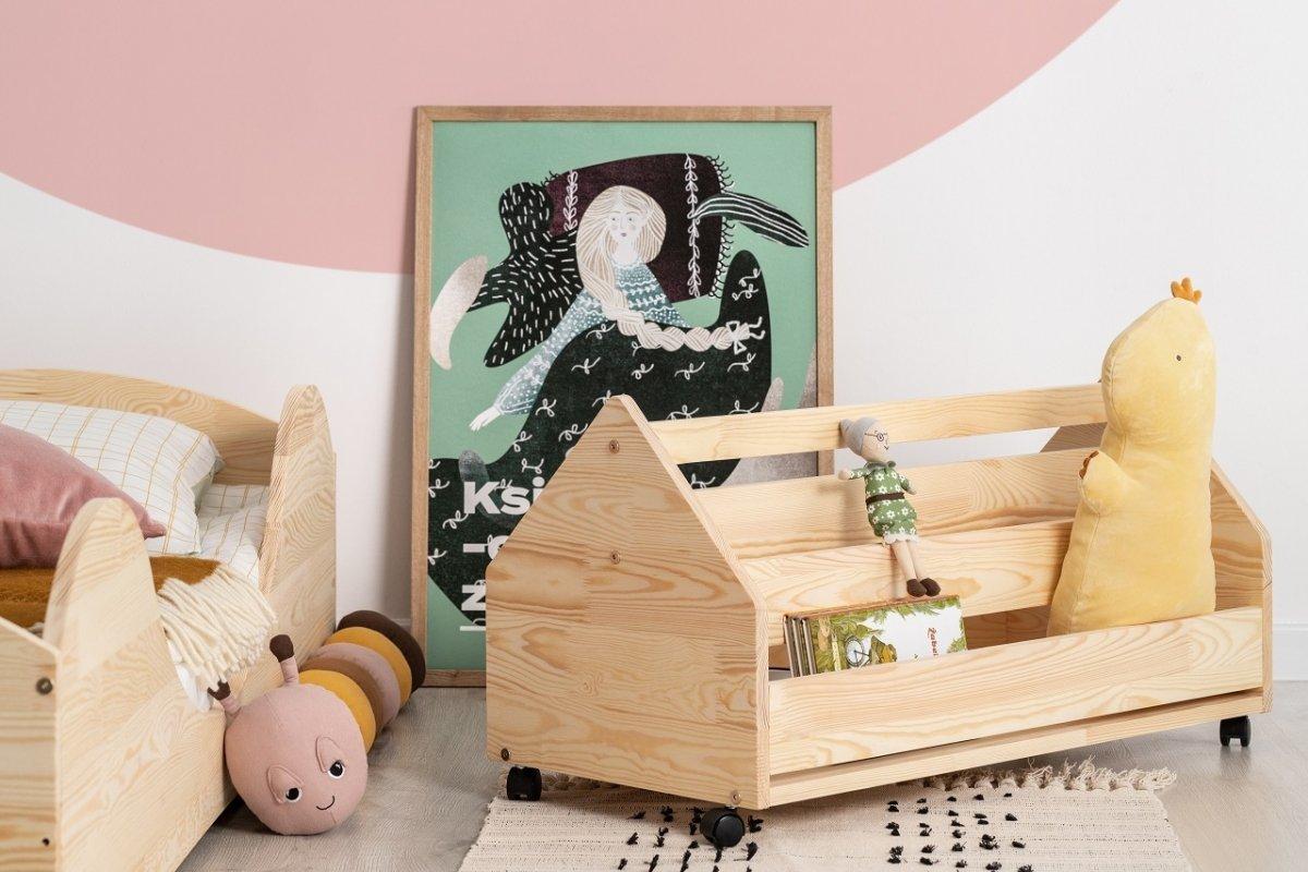 Dřevěná truhla na hračky DOMEČEK KUTU box 60 cm