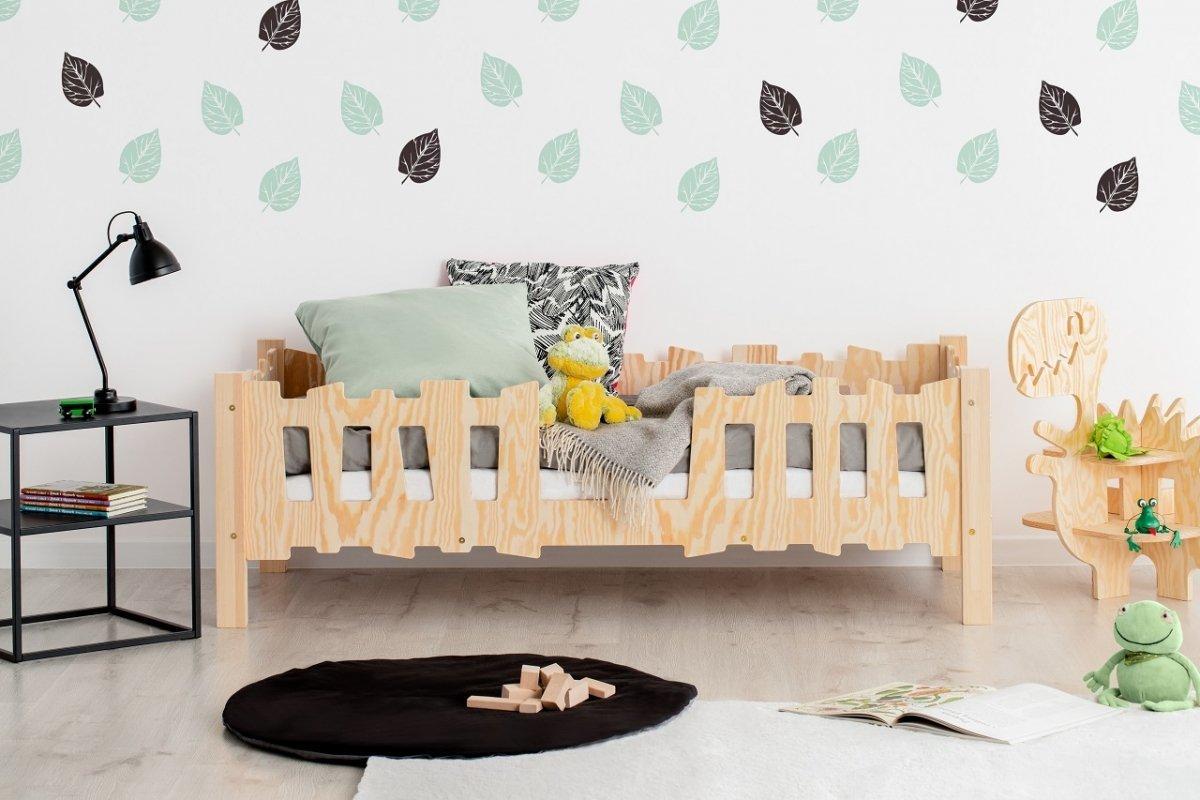 Dětská postel Pikko S Fence 140x70 cm