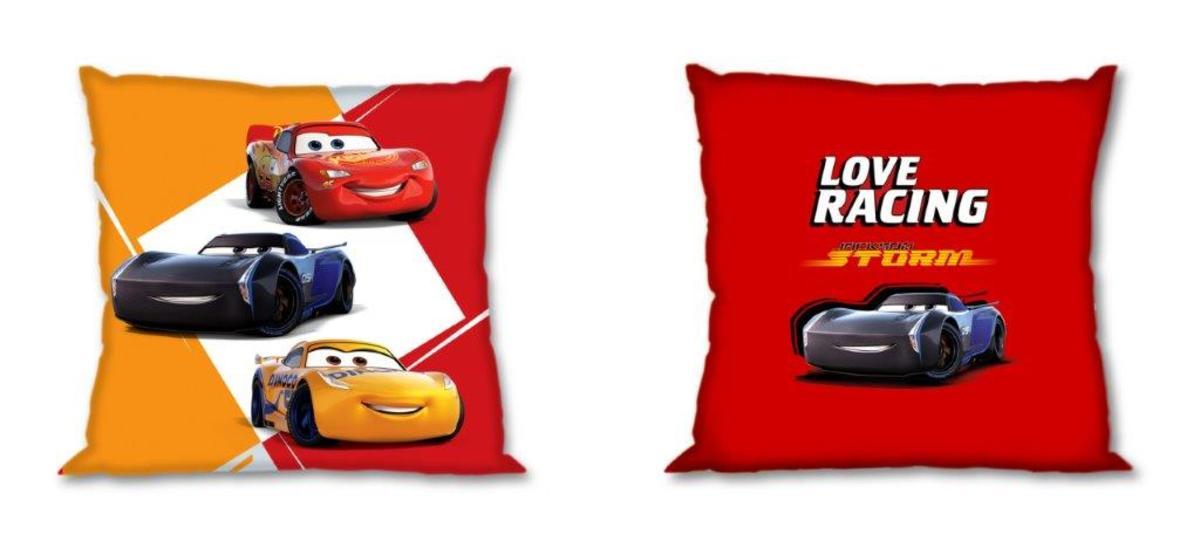 Povlak na polštářek 40x40 cm - Cars 3 - žluto-červený