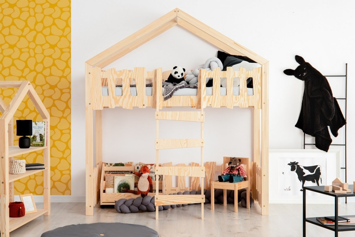 Domečková postel Mila Zippo PA - vyvýšená Elevated 190x90 cm