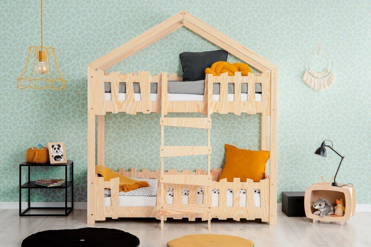 Domečková patrová postel Mila Zippo P Housbed 200x90 cm