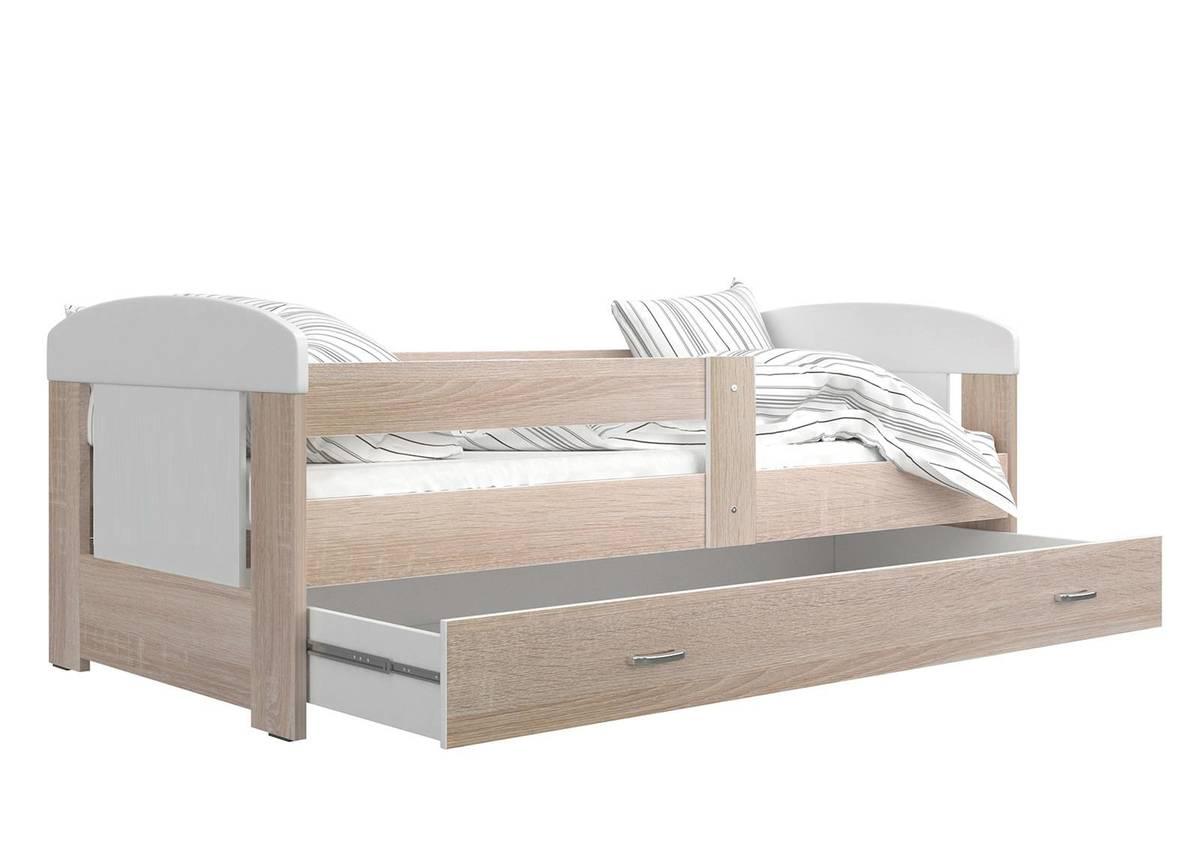 Dětská postel se zábranou Ourbaby Filip 160x80 cm přírodní
