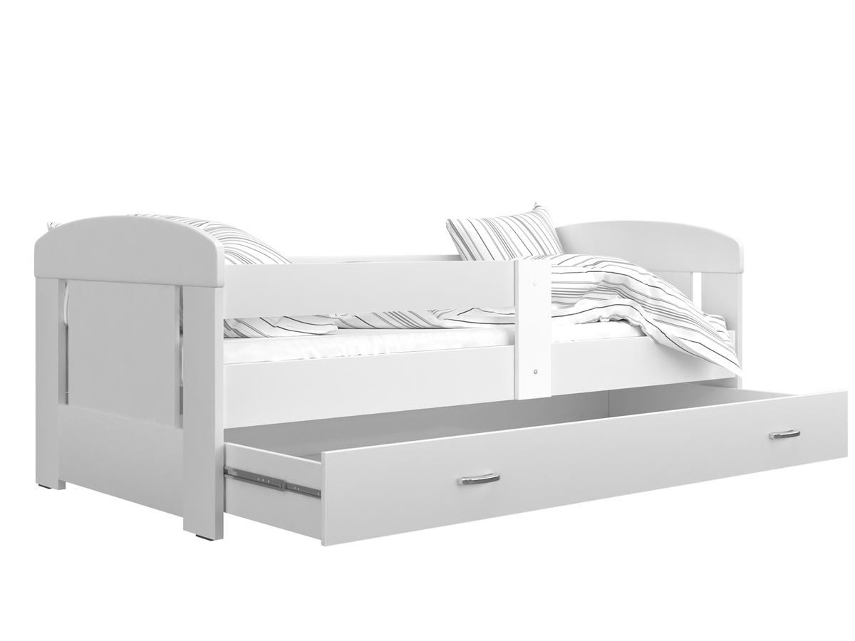 Dětská postel se zábranou Ourbaby Filip 160x80 cm bílá