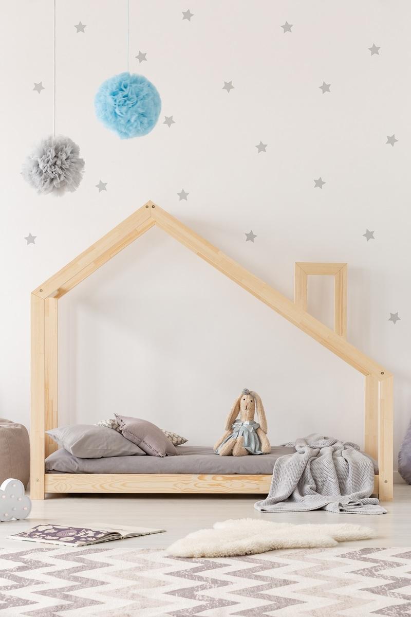 Dětská postel Ourbaby Mila Chimney 200x120 cm přírodní