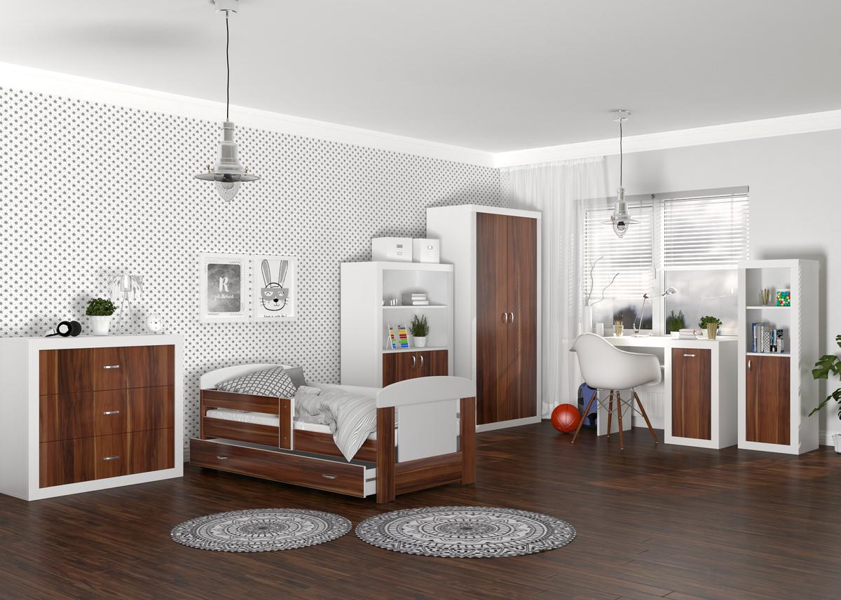 Dětský pokoj Filip - havana postel + úložný prostor 180x80 cm