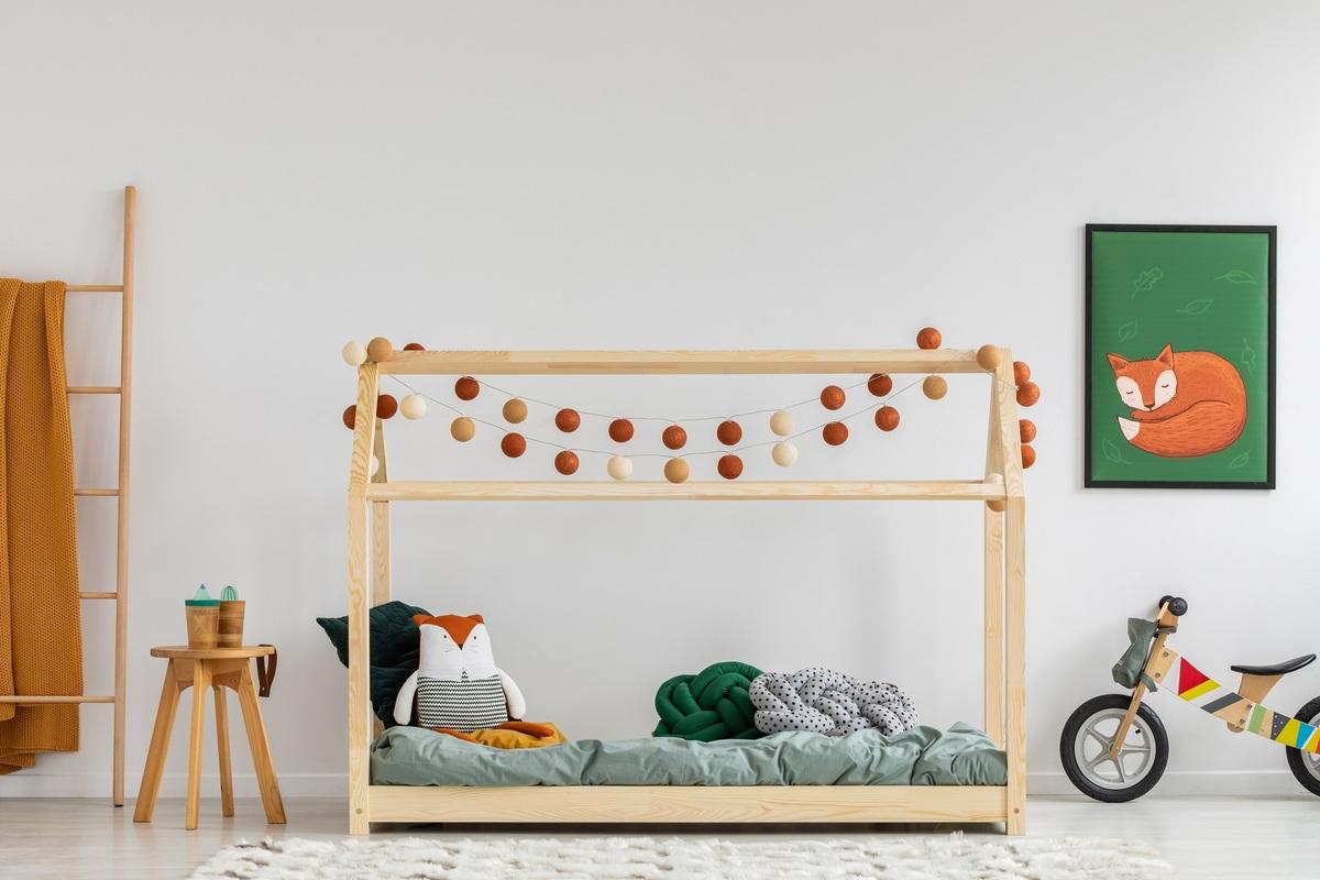 Dětská postel Ourbaby Mila 200x120 cm přírodní