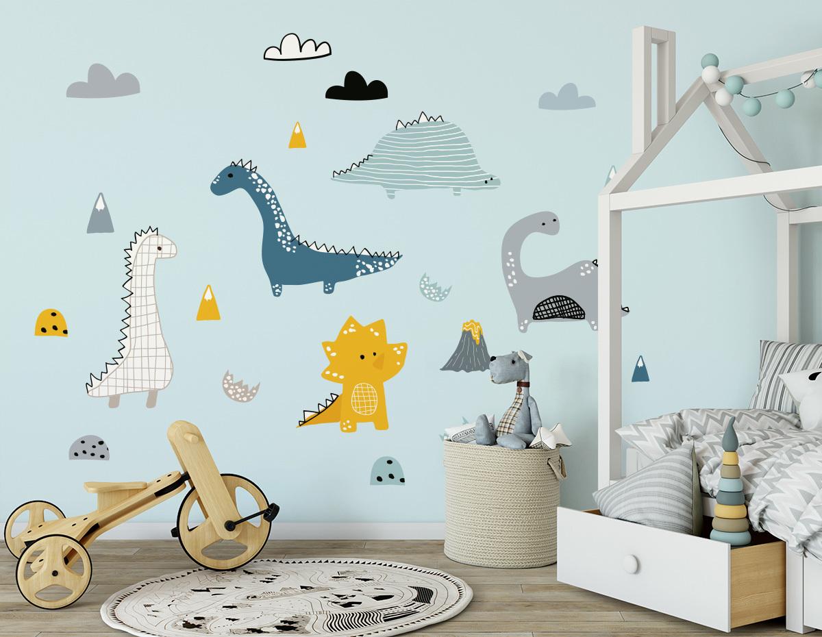 Dekorace na zeď Dinosauři