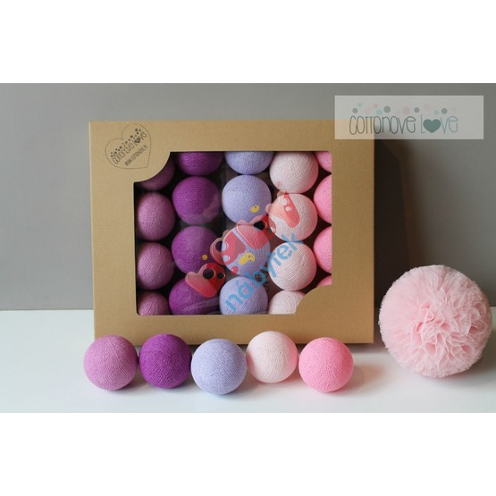 Cotton balls - light berry
