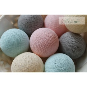 Cotton balls - pudrové, cottonovelove