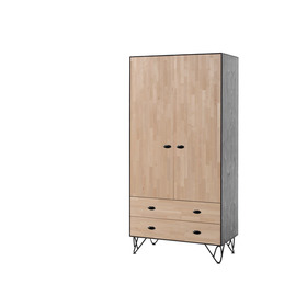 Skříň 2-dveřová William, VIPACK FURNITURE