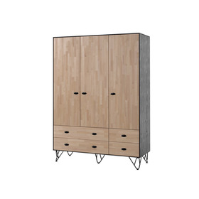 Skříň 3-dveřová William, VIPACK FURNITURE